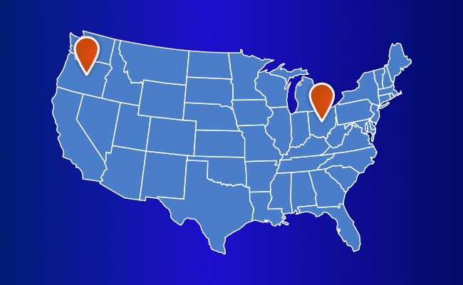 locations in the usa